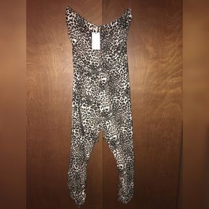 Strapless cheetah print jumpsuit *new with tags*